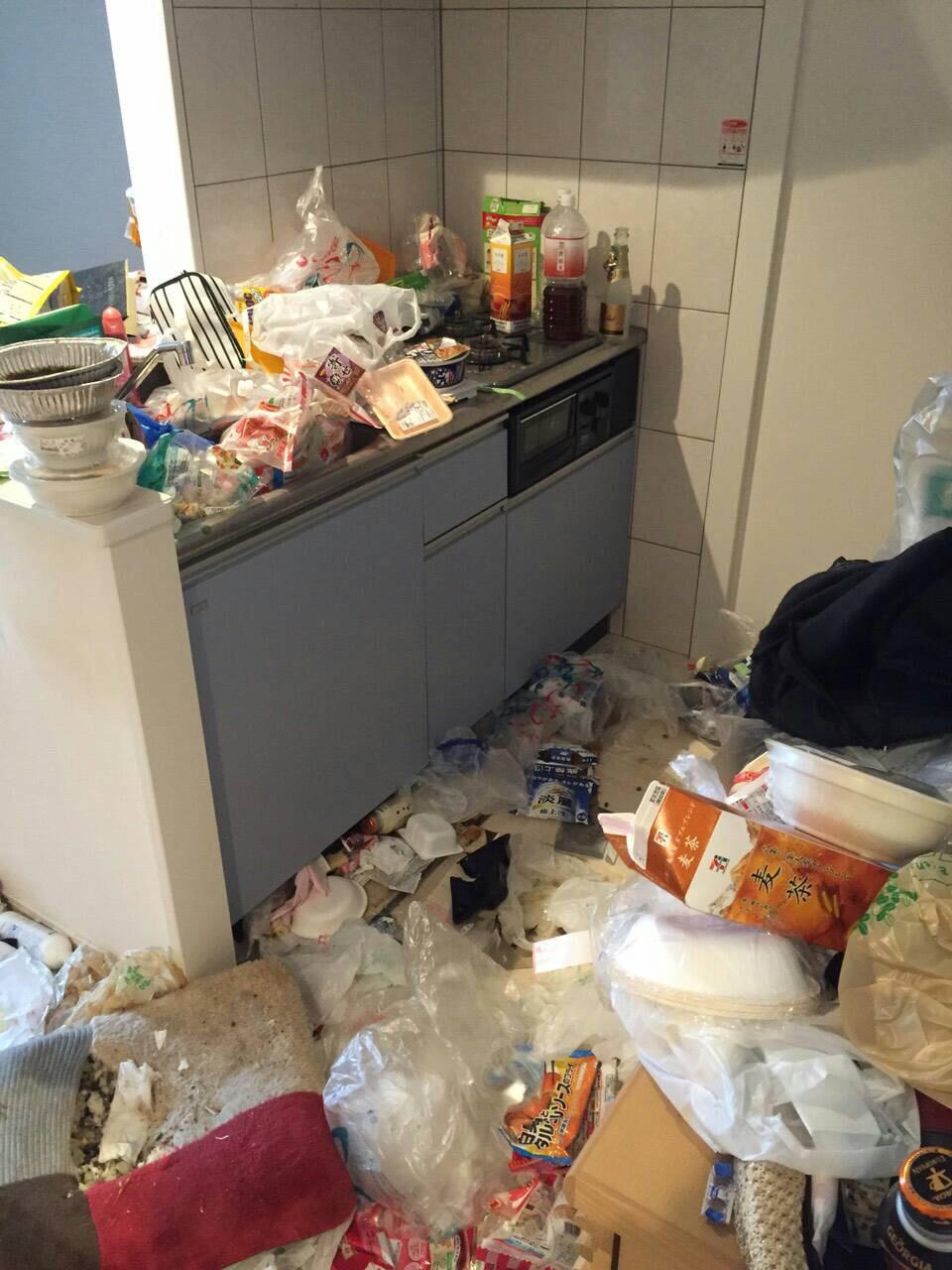 ゴミ屋敷片付け作業前